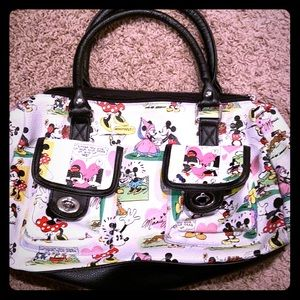 Brand new never used Mickey and Minnie purse